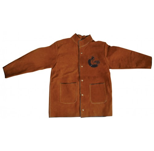 Leather Welding Jacket Brown